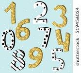 birthday anniversary numbers... | Shutterstock .eps vector #519456034