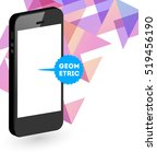 mobile phone icon with trendy... | Shutterstock .eps vector #519456190