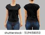 t shirt template | Shutterstock . vector #519458053