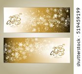 golden merry christmas and... | Shutterstock .eps vector #519459199