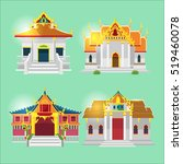 thai asian temple collection... | Shutterstock .eps vector #519460078