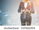close up of blond businesswoman ... | Shutterstock . vector #519462454