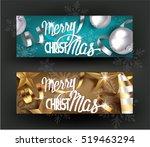 christmas horizontal banners... | Shutterstock .eps vector #519463294