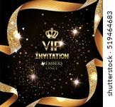 elegant vip invitation card... | Shutterstock .eps vector #519464683