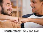 picture of two best friends men ... | Shutterstock . vector #519465160