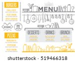 cafe menu food placemat... | Shutterstock .eps vector #519466318