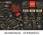 christmas restaurant brochure ... | Shutterstock .eps vector #519466423