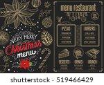 christmas restaurant brochure ...   Shutterstock .eps vector #519466429