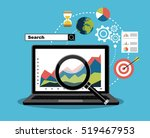 flat illustration web analytics ... | Shutterstock .eps vector #519467953