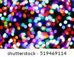 Color Light Blurred On Black...