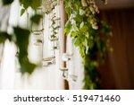 wedding decor | Shutterstock . vector #519471460