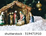 Christmas Manger Scene With...