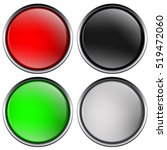 round buttons with chrome frame.... | Shutterstock . vector #519472060