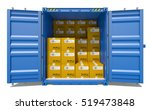 open shipping container with... | Shutterstock . vector #519473848