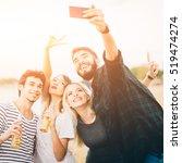 friends making selfie by the...   Shutterstock . vector #519474274
