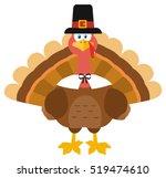 thanksgiving turkey bird...   Shutterstock .eps vector #519474610