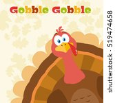 thanksgiving turkey bird... | Shutterstock .eps vector #519474658