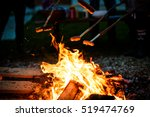making and cooking hot dog... | Shutterstock . vector #519474769