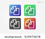 colored icon of document symbol ... | Shutterstock .eps vector #519475678