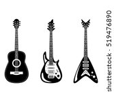 acoustic and electric guitars... | Shutterstock .eps vector #519476890