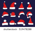 santa claus red hat isolated... | Shutterstock .eps vector #519478288