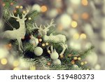 beautiful decorated christmas... | Shutterstock . vector #519480373