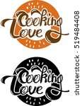 i love to cook. beautiful... | Shutterstock .eps vector #519484408