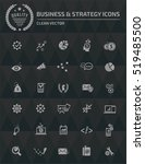 Business Strategy Icons Vector