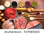 different types of healthy...   Shutterstock . vector #519485653