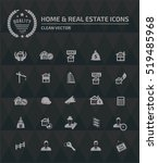 real estate icon set vector | Shutterstock .eps vector #519485968