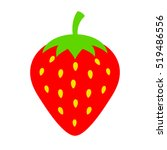 strawberry vector icon... | Shutterstock .eps vector #519486556