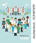 medicine team concept with... | Shutterstock .eps vector #519487699