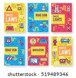 traffic light day vector... | Shutterstock .eps vector #519489346