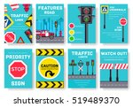 traffic light day vector... | Shutterstock .eps vector #519489370