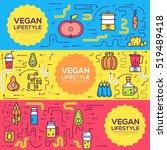 vector vegetable illustrations... | Shutterstock .eps vector #519489418