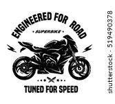 sport bike. emblem  t shirt...   Shutterstock .eps vector #519490378