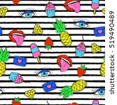 Seamless Pattern With Trendy...