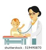 pediatrician doctor concept.... | Shutterstock .eps vector #519490870