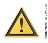 exclamation danger sign | Shutterstock . vector #519493810