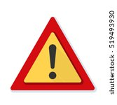 exclamation danger sign | Shutterstock .eps vector #519493930
