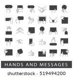 hands holding messages. hand... | Shutterstock .eps vector #519494200