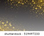glitter particles effect. gold... | Shutterstock .eps vector #519497233
