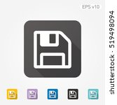 colored icon of save symbol... | Shutterstock .eps vector #519498094