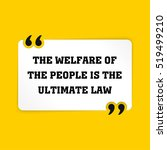 vector quote. the welfare of... | Shutterstock .eps vector #519499210