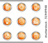 set of 9 glossy web icons  set...   Shutterstock .eps vector #51949948