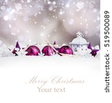 christmas balls with... | Shutterstock . vector #519500089