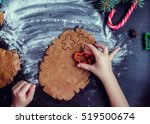 little girl's hand making... | Shutterstock . vector #519500674