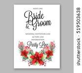poinsettia wedding invitation... | Shutterstock .eps vector #519503638
