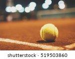 close up of tennis ball on... | Shutterstock . vector #519503860