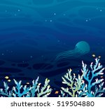 Vector Seascape   Coral Reef...